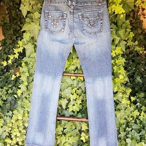 Wax Jeans Straight Leg Embellished Size 5